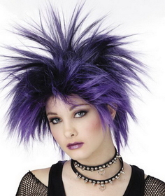 Morris Costumes MR-177038 Wig Purple Punker Chick