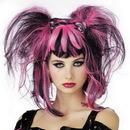 Seasonal Visions MR-177056 Wig Bad Fairy Black Pink