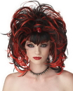 Seasonal Visions MR-177152 Wig Evil Sorceress Black Red