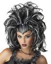 Seasonal Visions MR-177153 Wig Evil Sorceress Black White