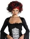 Seasonal Visions MR-177284 Wicked Widow Wig Black/Red