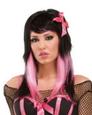 Seasonal Visions MR-177360 Wig Dark Fairytale Black/Pink