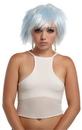 Seasonal Visions MR-177427 Punky Pixie Wig White-Blue