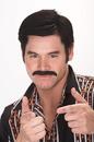 Papermagic 531256 Mustache 70S Dude Black