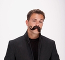 Papermagic 531264 Mustache Handle Bar Black