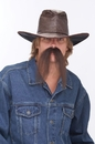 Papermagic 531368 Mustache The Western Brown