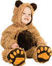 Morris Costumes PP-4200TS Chenille Teddybear Tod 6/12M