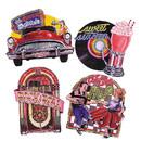 Morris Costumes QA-50 50S Cutouts Pack Of 4 16 Inch