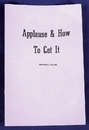 Morris Costumes RA-88 Applause And How To Get It
