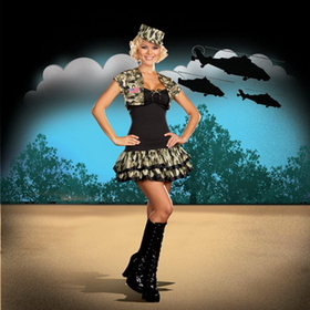 Dreamgirl 5966SM Soldier Girl Small Size 2-6