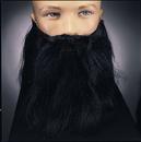 Rubies 2045BK Full Beard And Mustache Black