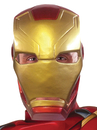 Morris Costumes RU-32890 Ca3 Iron Man Adt 1/2 Mask