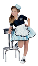 Rubies 38720SM Car Hop Girl Child Costume Sm