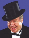 Rubies 57004 Top Hat Collapsible Black Xl