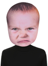 Morris Costumes SE-17941 Baby Angry Face