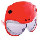 Morris Costumes SG-2341 Sunstache Power Ranger Red