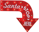 Morris Costumes SS-34646G Santa Stop Here Vintage Sign