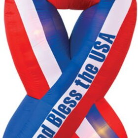 Morris Costumes SS-4500110G Ribbon Inflatable God Bless Am