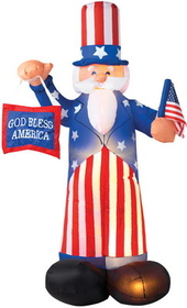 Morris Costumes SS-4850910G Uncle Sam Airblown 6 Feet Tall