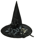 Morris Costumes SS-72311 Witch Hat W/Bone Skull