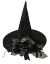 Morris Costumes SS-72312 Witch Hat W/Black Flower