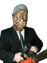 Morris Costumes TA-523 Bubba Clinton Mask Latex