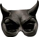 Morris Costumes TB-25002B Devil Black Latex Half Mask