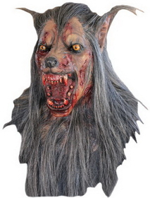 Morris Costumes TB-26337 Brown Wolf Latex Mask