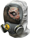Morris Costumes TB-26508 Toxic Zombie Latex Mask