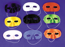 Morris Costumes TI-01RD Half Mask Satin Red