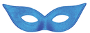 Morris Costumes TI-05BU Harlequin Mask Satin Blue