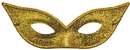 Morris Costumes TI-06GD Harlequin Mask Lame Gold