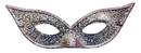 Morris Costumes TI-06SV Harlequin Mask Lame Silver