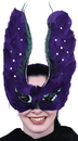 Morris Costumes TI-49 Mask Feather Purpl With Sequin
