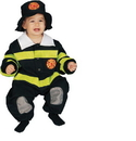 Morris Costumes UP-297TS Baby Firefighter 9 To 12 Mo