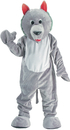 Morris Costumes UP-301 Wolf Mascot Grey Adult One Sz.