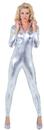 Underwraps 29455SVXL Stretch Jumpsuit Silver Xlarge