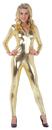 Underwraps 29458GDMD Stretch Jumpsuit Gold Medium