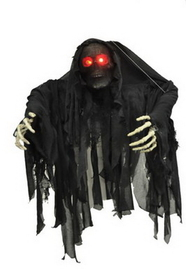 Morris Costumes VA-970 Hanging Black Wrapped Ghoul