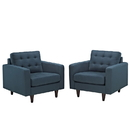 Modway Furniture EEI-1283 Empress Armchair Upholstered Set of 2