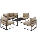 Modway Furniture EEI-1726 Fortuna 6 Piece Outdoor Patio Sectional Sofa Set