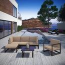 Modway Furniture EEI-1731 Fortuna 6 Piece Outdoor Patio Sectional Sofa Set