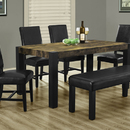 Monarch Specialties I 1620 Distressed Reclaimed-Look / Black 38