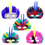 Oparty Assorted Feathered Half Masks - Big Size