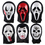 Oparty Set of 6 Ghost Face Mask Pack, Assorted Halloween Masks, Dress-Up Party Accessory