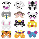 TopTie Pack of 12 Eva Animal Mask Halloween Dress-Up Costume