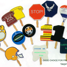 Promotional Hand Fans, Customized Fans, Silkscreen Logo, Unique Shape available, Free Design, Price/Piece