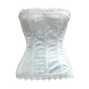 Muka Stunning Strapless Side Closure Fashion Corset, Ivory Bridal Corset, Gift Idea