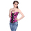 Muka Women's Brocade Buckle Rose Red Fashion Corset Top, Christmas Gift Idea