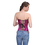 Muka Brocade Buckle Rose Red Fashion Corset, Gift Idea